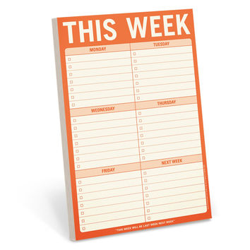 This Week Planner Pad in Burnt Sienna