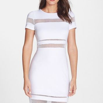B44 Dressed by Bailey 44 'Mateo' Mesh Insert Body-Con Dress | Nordstrom