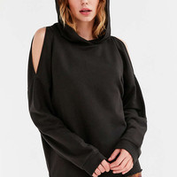 WTS Stam Cold Shoulder Hoodie Sweatshirt - Urban Outfitters