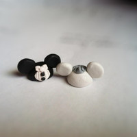 Wedding Themed Mickey and Minnie Charms/Figurines Polymer Clay