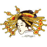 Ed Hardy Asian Woman Temporary Tattoo