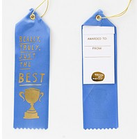Really, Truly, Just the Best Award Ribbon in Blue