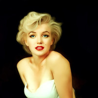 Marilyn Monroe Painting Art Print by Mamboo - Sorina V.