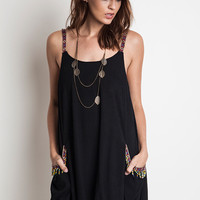 Two Pocket Tank Dress - Black