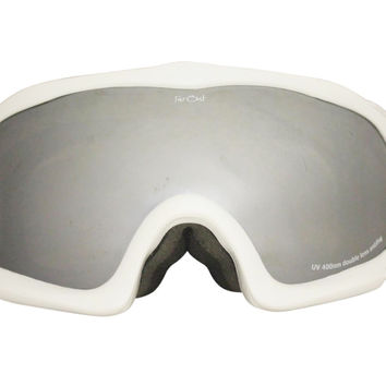 White Warped Goggles Mirror Lens