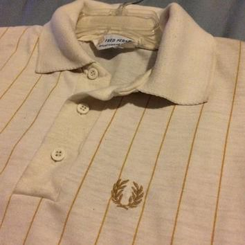 Sale!! Vintage EUC Fred Perry Casual Sportswear Polo Shirt size Large Free shipping wi