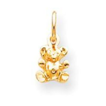 TEDDY BEAR Charm in 10k Yellow Gold