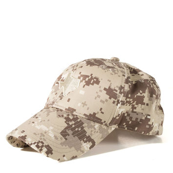 Digital Camo Texas Hat - Khaki