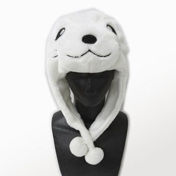 Soft and Cuddly Animal Earflap Beanie Hat (Seal)