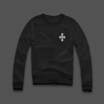 OVO Cross Pom Pom Chest Sweatshirt - WEHUSTLE | MENSWEAR, WOMENSWEAR, HATS, MIXTAPES & MORE