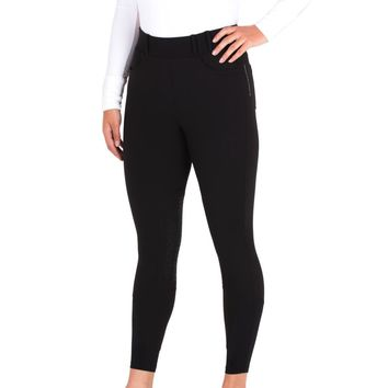 Noble Outfitters Ladies Knee Patch 5 Pocket Balance Riding Tight - Black