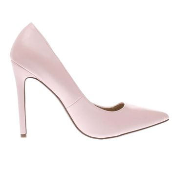 missguided pale pink point toe court high heels