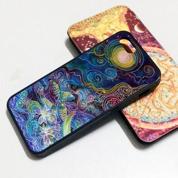 iPhone 6 case  hair under colorful stars iphone case,ipod case,samsung galaxy case plastic rubber case waterproof W053