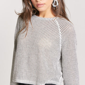Ribbed Raglan Sweater-Knit Top