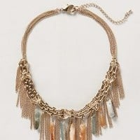 Stalactite Fringe Necklace by Anthropologie Gold One Size Necklaces