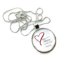 "Mama Designs Glass Dome ""you Will Always Hold My Heart "" 