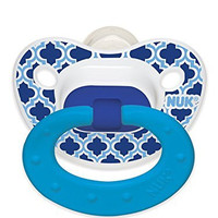 NUK Marrakesh & Whales Puller Pacifier , Colors and Pattern May Vary ,18-36 Months
