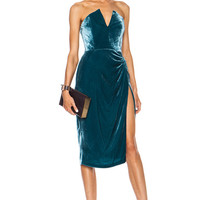 Velvet Dress in Teal