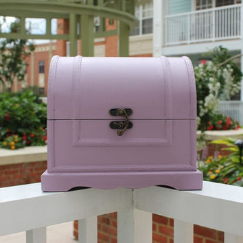 French Provincial accessory chest, hand-painted in Annie Sloan purple chalk paint