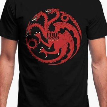FIRE AND BLOOD - GAME OF THRONES Printed Tshirt