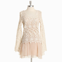 cordelia crochet and tulle dress - $79.99 : ShopRuche.com, Vintage Inspired Clothing, Affordable Clothes, Eco friendly Fashion