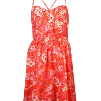 Guess Women's Sleeveless Floral Print Dress