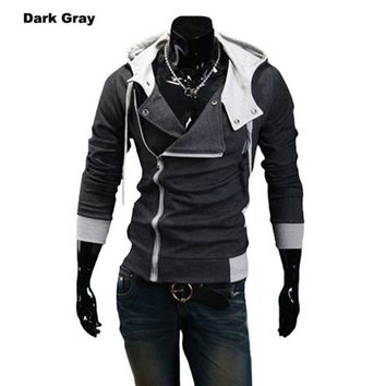 11 Colors M-6XL 2017 Hoodies Men Sweatshirt Male Tracksuit Hooded Jacket Casual Male Hooded Jackets moleton Assassins Creed