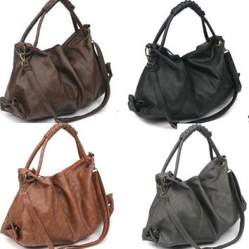 Hot Sale New Korean Style Lady  PU Leather Handbag Shoulder Bag