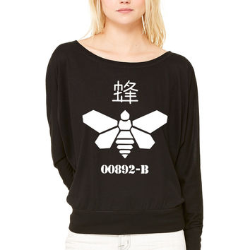 Bee Barrel WOMEN'S FLOWY LONG SLEEVE OFF SHOULDER TEE