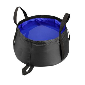 Blue All Purpose Utility Bucket Camp Pail Collapsible Sink Foldable Can, 8.5L