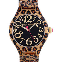 Betsey Johnson Watch, Women's Leopard Printed Bracelet 40mm BJ00204-03 - Betsey Johnson - Jewelry & Watches - Macy's
