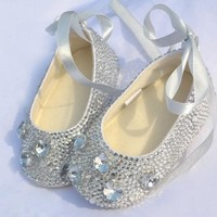Baby Bling Dazzling Newborn Baby Girl Ballerina Shoes Booties