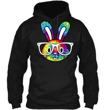 Hippie Easter Bunny Shirt - Sixties Hipster Rabbit1 Pullover Hoodie 8 oz