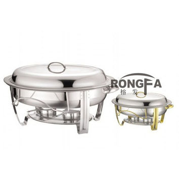 Stainless steel chafing dish buffet dish oval shape