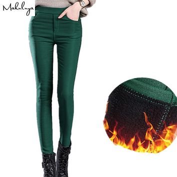 Makuluya 2017 autumn winter thickening women leggings cotton fur lock hot lady leggings pencil keep warm 4xl plus size legging