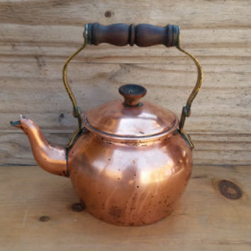 Reserve for Sunshine Copper Teapot/ Kettle Tagus R.50 Made in Portugal