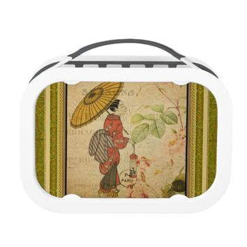 French Postcard Yubo Lunch Box