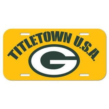 DCCKG8Q NFL Green Bay Packers License Plate