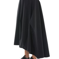 Asymmetric Track Skirt (CE8704-BLACK)