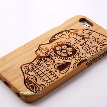 skull iphone case wood samsung galaxy note5 case  wooden iphone 6 case iphone 6 case wood wood phone case iphone 6 wood case iphone 6s case