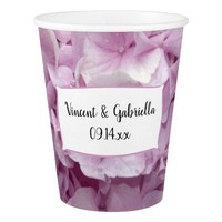 Soft Pink Hydrangea Wedding Paper Cup