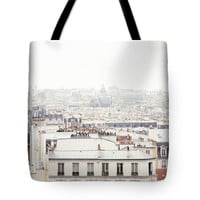 """Paris Montmartre Rooftop Tote Bag for Sale by Ivy Ho (18"""" x 18"""")"""