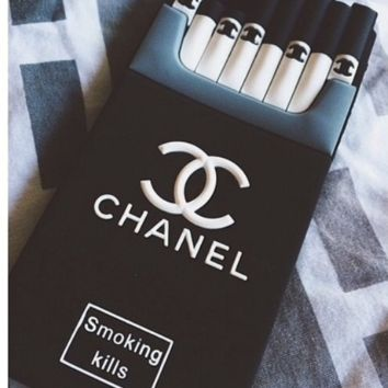 Chanel Stylish Cigarette iPhone Phone Cover Case For iphone 6 6s 6plus 6s-plus 7 8plus I