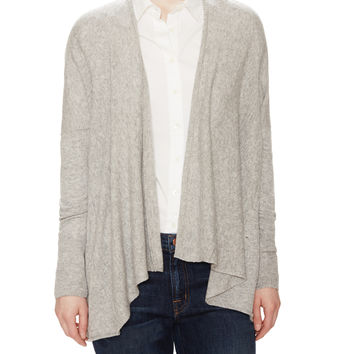 Autumn Cashmere Women's Draped Cashmere Cardigan - Grey -
