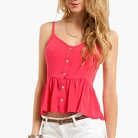 Light Button Tank Top $20