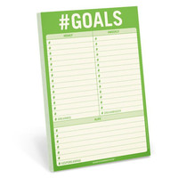 #Goals 6 x 9 Hashtag Notepad in Lime Green