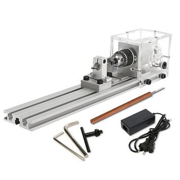 Raitool 80W DC 24V Mini Lathe Beads Machine Woodworking DIY Lathe Standard Set