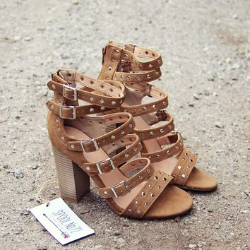 Knox Strappy Heel in Caramel