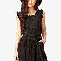 Studded Woven Dress