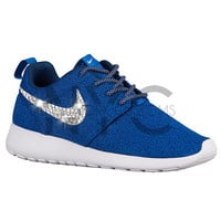Blinged Nike Roshe One Run Coastal Blue Swarovski Crystal Rhinestones